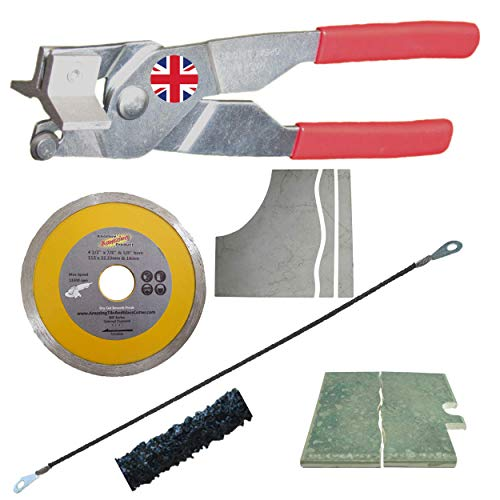 The Amazing Tile And Glass Cutter Kit 1 - Rodsaw for Cutting shapes in Wall Tiles and a Diamond Blade for Cutting Shapes in Porcelain and Granite Tile with grinder porcelain cutting disc