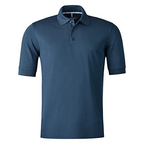 agon Herren Pique Polo-Shirt - Kurzarm-Hemd für Männer mit Knopfleiste, bügelfrei und atmungsaktiv, für Sport und Business, Made in EU Marine 56/2XL