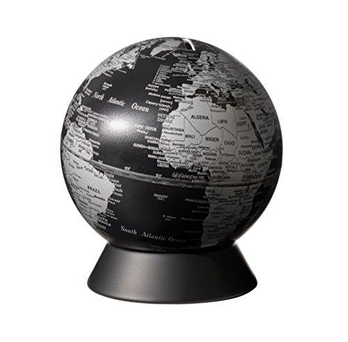 emform Mini-Globus, Orion Matt Black, Metall & Kunststoff, 130 x 150 mm