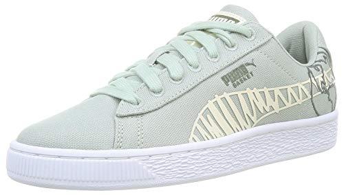 PUMA Basket Canvas T4C WTR JR Sneaker, Aqua Gray Thymian, 39 EU