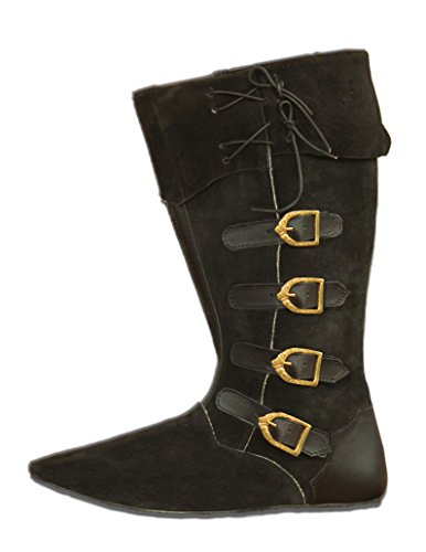 CP-Schuhe Mittelalter Schuhe Stiefel aus Rauhleder (46)