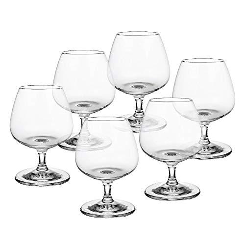 CRISTALICA Cognacschwenker 6er-Set Cognacglas Schwenker Napoli 390ml Brandy Weinbrand Glas