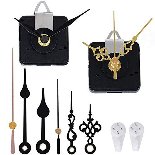 3 Pieces High Torque Long Shaft Clock Movement Mechanism Quartz Clock Motor Kit with 5 Different Pairs of Hands Clock Repair Parts Replacement Accessories