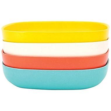 EKOBO Biobu Gusto Pasta/Salad Set in Gift Box, Persimmon/White/Lagoon/Lemon