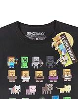 T-shirt per bambini e ragazzi, con i personaggi del videogioco Minecraft Black 14-15 Anni #4