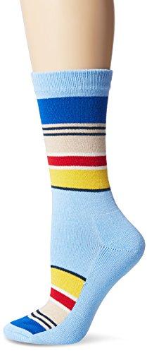 Pendleton Women's National Park Cotton Crew Socks, Light Blue, Sock Size:10-13/Shoe Size: 6-12(6-10)