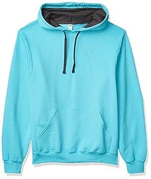 Fruit of the Loom Men s Hooded Sweatshirt,Scuba Blue,X-Large