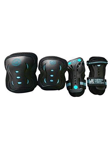 KRF The New Urban Concept Junior Set de Protecciones, Hombre, Azul, m