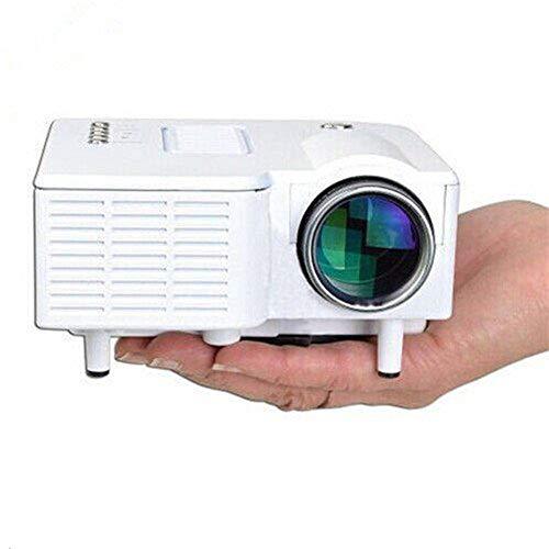 WGWG UC28 24W PRO Portable HDMI Mini Home LED Projector 60' Cinema Theater-White