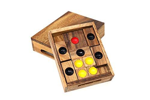 サイアムマンダレー セッティングサン スライドパズル 木製パズル 立体パズル 3D立体パズル 知育玩具 孔明パズル おもちゃ 男の子 女の子 大人 ギフト 誕生日 クリスマスプレゼント
