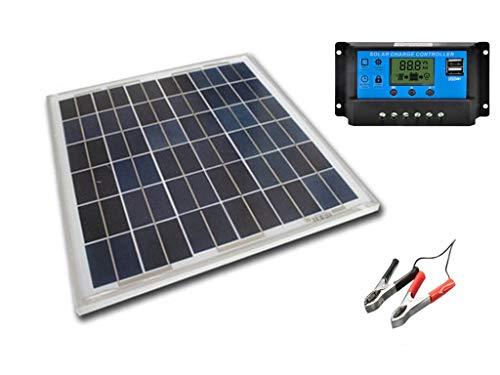 SAYA 12vバッテリーへ充電用 20W ソーラーパネル1枚 20A 12v/24v コントローラーつき