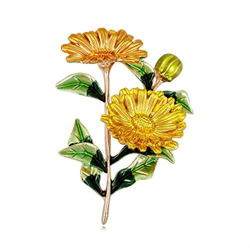 JUNESUN Blumenbrosche Mode Blumenstrauß Kleidung Rucksack Pins Emaille Corsage Badge Icons