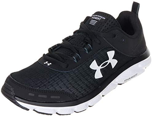 Under Armour mens Charged Assert 8 Running Shoe Black White 11 5 US product image