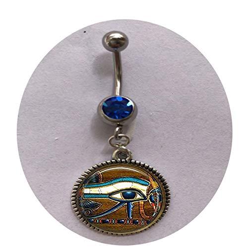 bab Glasfliesen-Schlüsselanhänger, Auge des Horus, ägyptischer Schlüsselanhänger, ägyptisches Auge, Glasfliesen-Schmuck, ägyptischer Bauchnabelring, individuelles Geschenk, Alltagsgeschenk
