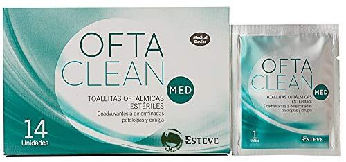14 toallitas oftálmicas estériles, de un solo uso, con clorhexidina y coadyuvantes a determinadas patologías y cirugías oculares