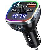 VicTsing BH378 FM Transmitter, Bluetooth 5.0 Car Radio Audio Adapter & 6 RGB Colorful Light, MP3 Player...
