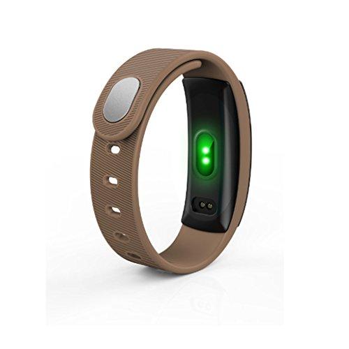 GSHWJS Pulsoximeter, professionell, wasserdicht, Smartwatch braun