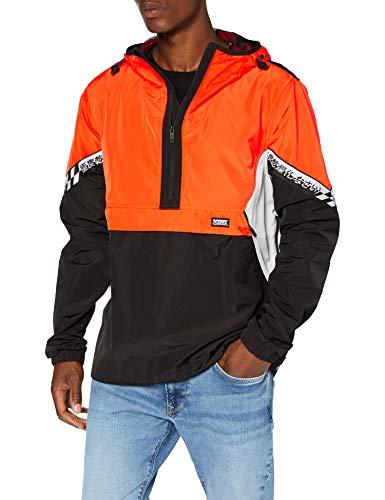 Superdry Herren Jared Overhead Cagoule Jacke, Orange (Bold Orange UM2), Large