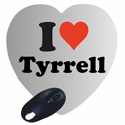 Herz Mauspad 'I Love Tyrrell' in Weiss, eine tolle Geschenkidee die von Herzen kommt| Rutschfestes Mousepad | Geschenktipp: Weihnachten Jahrestag Geburtstag Lieblingsmensch