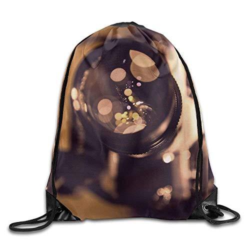 ZHIZIQIU 3D Print Drawstring Bags Bulk, Camera Lens Photographys Dekstop Unisex Outdoor Sack Bag Sport Drawstring Backpack Bag Size: 4133cm