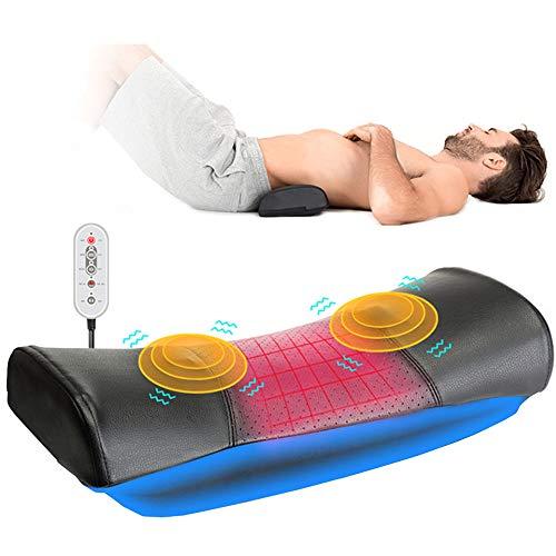 BLH-BSY Elektrisches Lendenwirbel-Massagegerät, Gerät zur Unterstützung der Taillen-Rückenschmerzen, Vibrationsmassagegerät, Heizung zur Schmerzlinderung