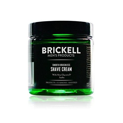 Brickell mjuk rakkräm för män, naturlig och organisk jämn rakkräm för att bekämpa hack, skärsår och rakhyvel, 59 ml, doftfri