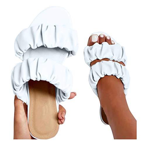 Binggong Y2K Damen Sandalen Casual Damen Slides Plattform Pantoletten Sandalen Ultra-Soft Slippers, Vintage Römersandalen Sandaletten Super Soft Home SlippersFlache Schuhe Strandsandalen