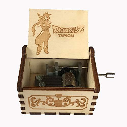 XIAOQIU Caja de música Caja de música de manivela de Madera Tallada Antigua Caja de música Regalo de cumpleaños Partido Decoración del hogar Caja Musical (Color : D.Z Tapion)