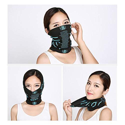 LXFDS Moda para Montar al Aire Libre máscara Multifuncional mágica pañuelo en la Cara Capucha Babero a Prueba de Viento Caliente, máscara para Montar al Aire Libre, máscara Deportiva contra el Viento