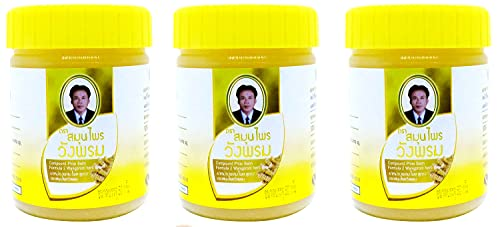 Wang Prom Herbal Balm 50g (Pack of 3) (Yellow)