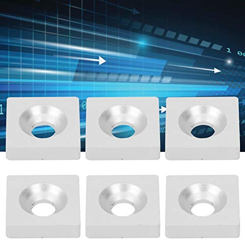 WinmetEuro Arandela de Placa de cojinete Cuadrada, 10 Piezas de arandela de Placa de cojinete para reemplazo de la Antigua para Accesorios de Sujetadores de Cubierta(3030-single Hole)