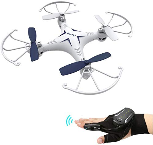Bump F-3 Ezee Hand Sensor Control Series Mini Drone 2.4GHz, 6 Axis Gyro | On-Board Altitude Maintaining Stability Controls and Protective Propeller Safety Bumpers - Power Level LED Indicators