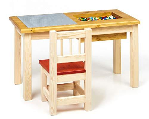 Priko 1-Sitz Kinder Spieltisch mit integriertem Aufbewahrungsfach | Made in EU