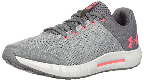 Under Armour Girls' Grade School Pursuit Sneaker, Zinc Gray (102)/Overcast Gray, 6