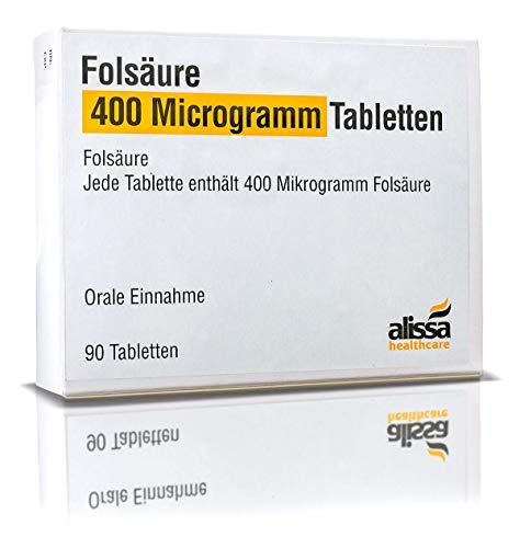 Folsäure Tabletten 90 Stück für Kinderwunsch und Schwangerschaft I Optimale Dosierung und hohe Bioverfügbarkeit I Besserer Schutz vor Neuralrohrdefekten I Vor und in der Schwangerschaft anwendbar