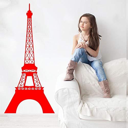 hetingyue Eiffeltoren muurtattoo vinyl kunst sticker Parijs Frankrijk reis slaapkamer woonkamer decoratie huis