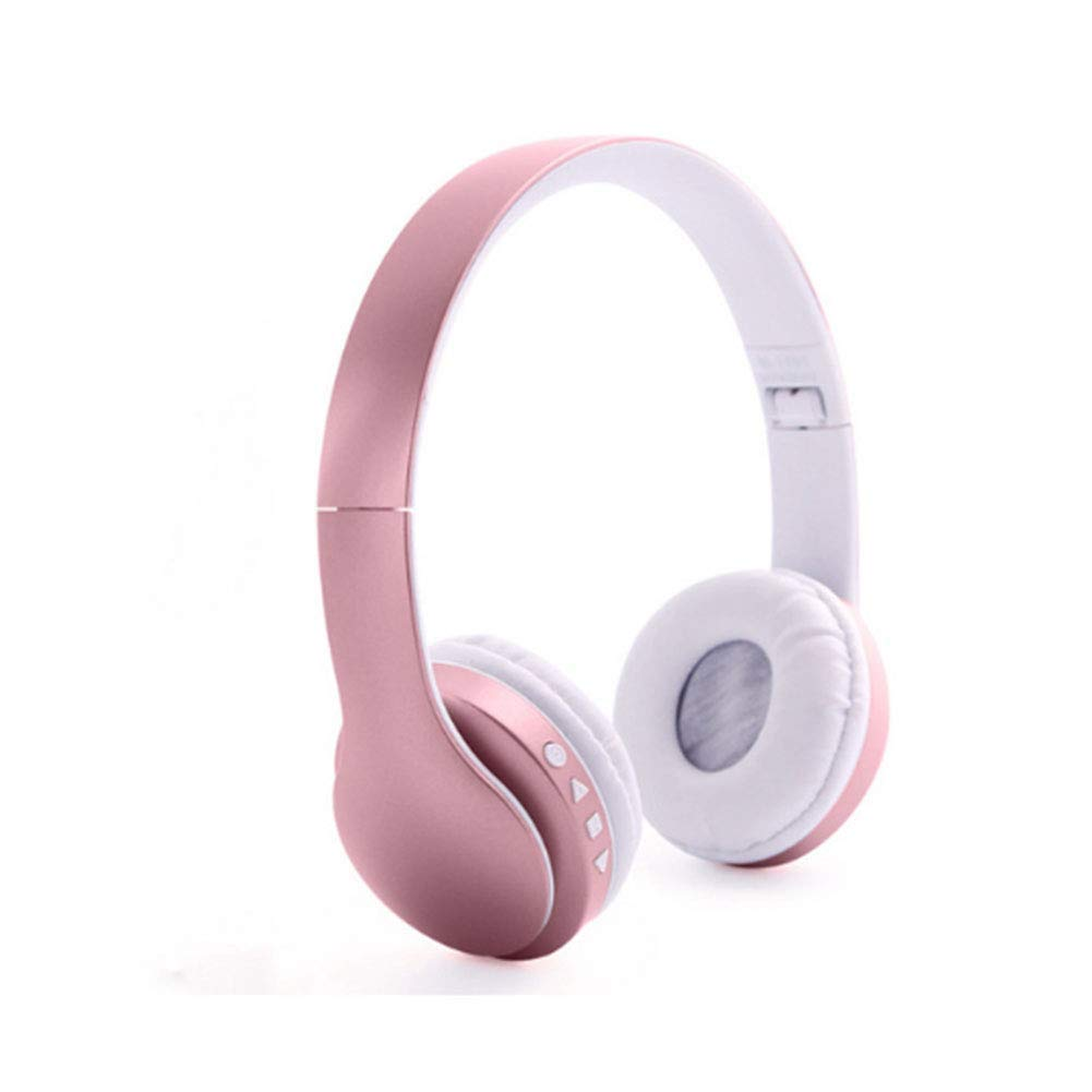 longdafei Auriculares Bluetooth Inalambricos de Diadema Cascos Plegables con Micrófono Micrófono/FM/TF Tarjeta/AUX para PC TV Teléfonos Inteligentes y Tabletas (Rose Gold): Amazon.es: Electrónica