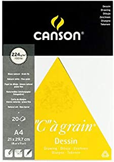 Canson Drawing book, 224 g, 20 A4 Papers, 21 * 29.7 cm