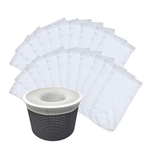 Starter Chaussettes filtrantes pour Piscine, Panier de laitier Ultra-Fin en Nylon élastique Ultra-Fin pour Mailles de Piscine, Filtre Parfait pour protéger Votre Filtre et Votre Panier, 13x22cm