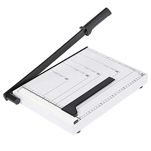 Brand Bucket Paper Cutter A4 Paper Trimmer Heavy Duty White Photo Guillotine Craft Machine 12 inch Cut Length,10 Sheets Capacity (A4-White)