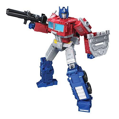 Transformers Toys Generations War for Cybertron: Kingdom Leader WFC-K11 Optimus Prime Action Figure - Kids Ages 8 and Up, 7-inch