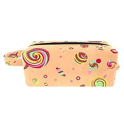 Trousse de Maquillage Voyage Maquillage Case Cosmetic Case Professional Portable Lollipops Candy Organisateur et Rangement pour Porte-pinceaux de Maquillage