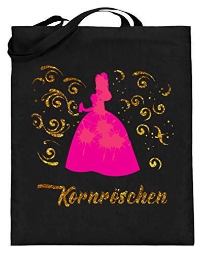 Kornröschen Party Korn Motiv - Schlichtes Und Witziges Design - Jutebeutel (mit langen Henkeln)