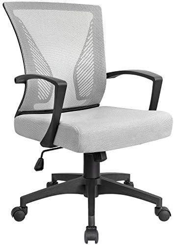 Best Kai Meng Office Desk Chair With Mesh Mid Back Ergonomic