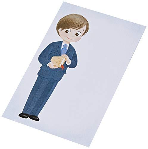 Mopec X673 Estampa niño Comunión traje azul y biblia, 25 unidades, Cartulina, Multicolor, Talla única