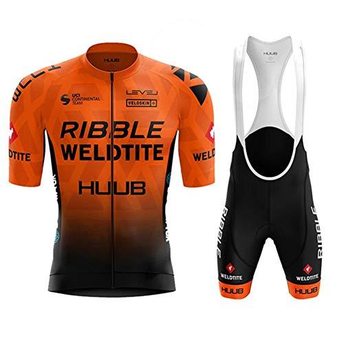 AJL Huub Gradient Orange Camiseta de Ciclismo para Hombre de