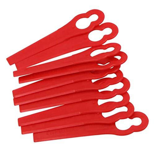 perfk 10 Piezas de Repuesto de Corte de Plástico Recortadora para Cortadora de Césped de Jardín
