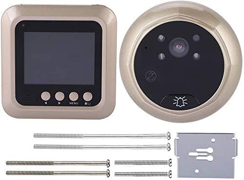 Pangding Video Timbre, 2.4inches 1080P Inteligente Eléctrico Inalámbrico Digital Mirillas Seguridad Visual...