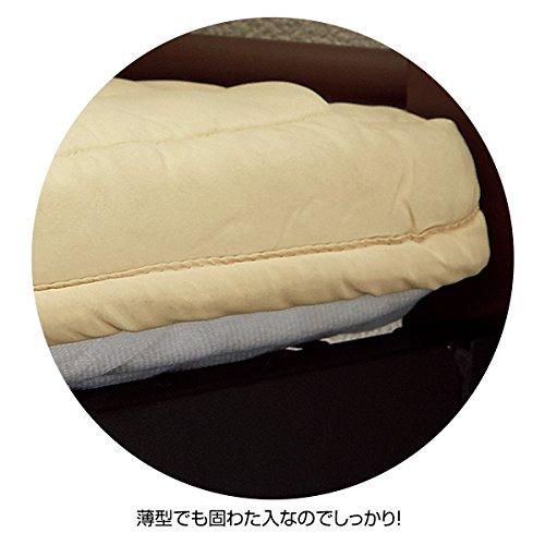 『ニッセン 長さ選べるベッド専用マット / サイズ【敷マットのみ・セミダブル】 / 色【ブルー】』の2枚目の画像