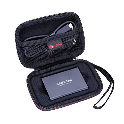 XANAD Hart Reise Tragen Tasche für Samsung Portable SSD T3 T5 250 GB 500 GB 1 TB 2 TB Externe Solid State-Laufwerke - Schutz Hülle (Schwarz)
